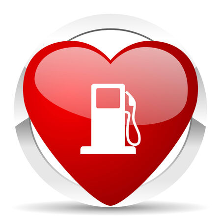 bio diesel: petrol valentine icon gas station sign