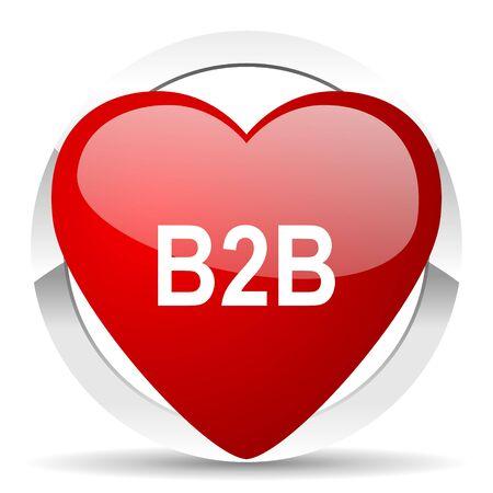 b2b: icono de san valent�n b2b Foto de archivo