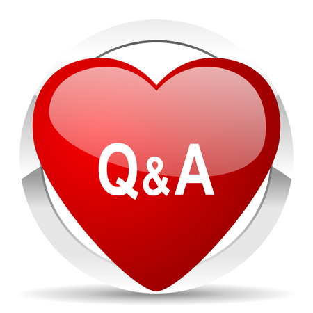 question and answer: question answer valentine icon Stock Photo