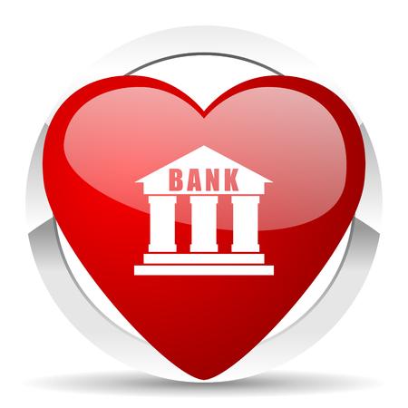 profit celebration: bank valentine icon