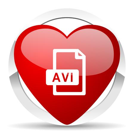avi: avi file valentine icon Stock Photo