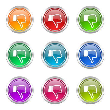 pulgar abajo: iconos aversi�n configur� el pulgar hacia abajo signo