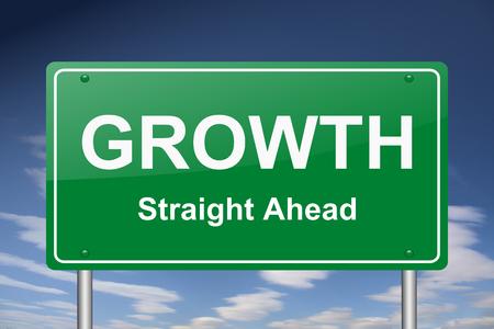 Wachstums Zeichen Standard-Bild