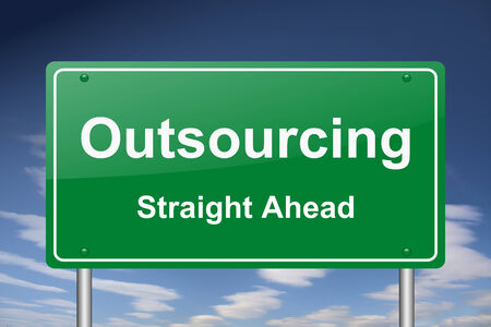 outsourcing: outsourcing sign Stock Photo