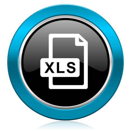 calc: xls file glossy icon Stock Photo