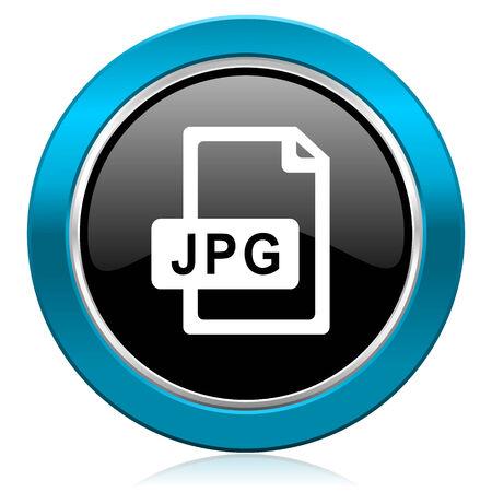jpg: jpg file glossy icon Stock Photo