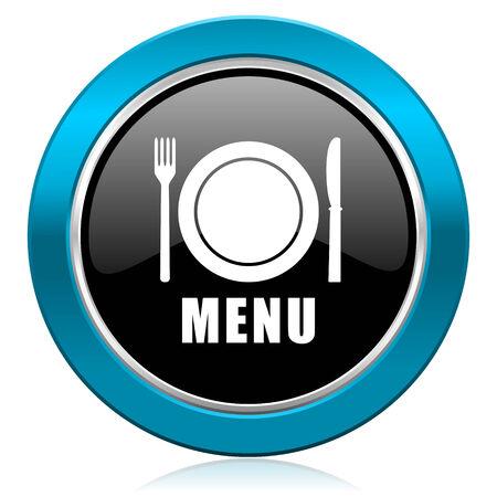 menu glossy icon restaurant sign photo