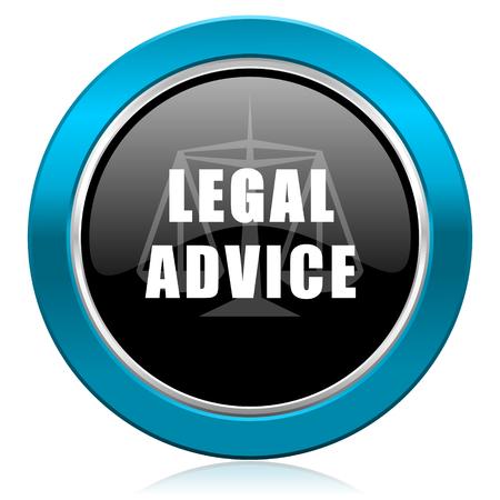 asesoria legal: asesoramiento jur�dico icono brillante signo ley Foto de archivo