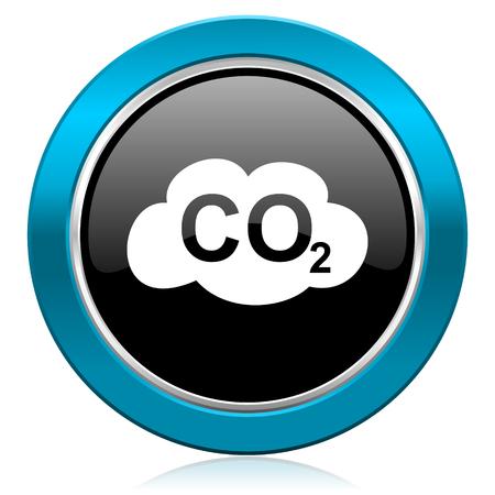 dioxido de carbono: di�xido de carbono ic�nico signo co2