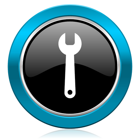 tools glossy icon service sign photo