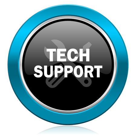 technical support: technical support glossy icon