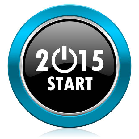 new year 2015 glossy icon new years symbol photo