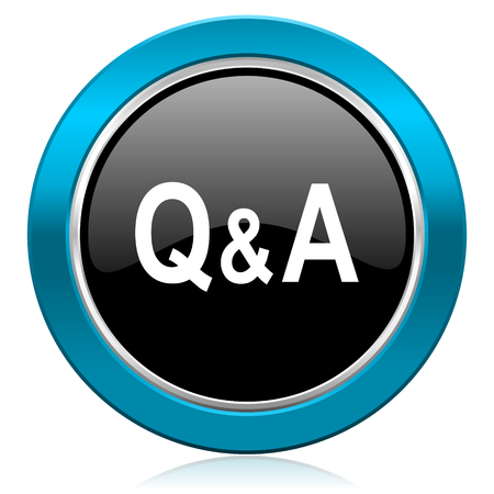 question and answer: question answer glossy icon
