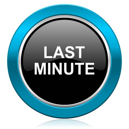 last minute glossy icon photo