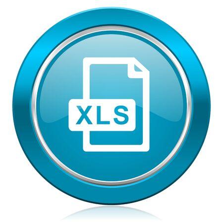 xls file blue icon photo