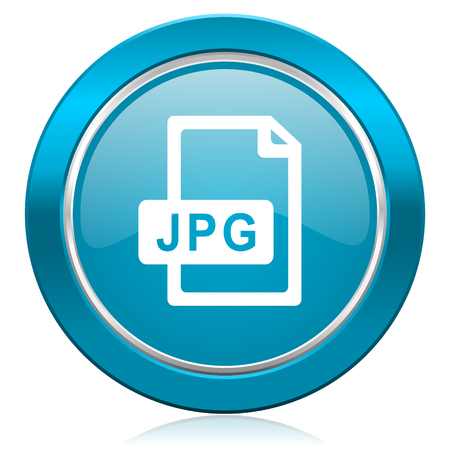 jpg file blue icon photo