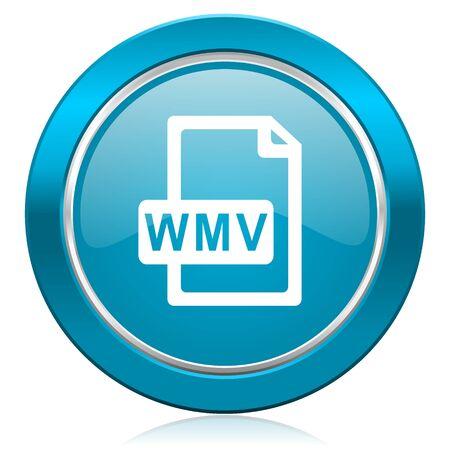 wmv file blue icon photo