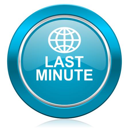minute: last minute blue icon
