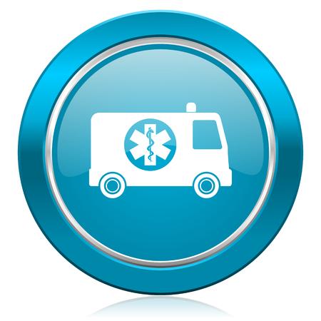 ambulance blue icon photo
