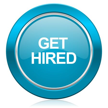 hired: get hired blue icon