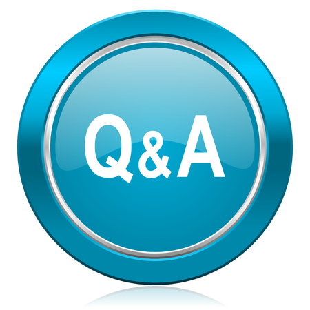 question and answer: question answer blue icon
