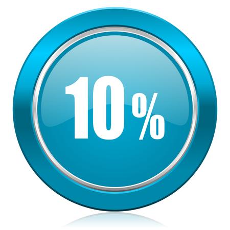 10 percent blue icon sale sign photo