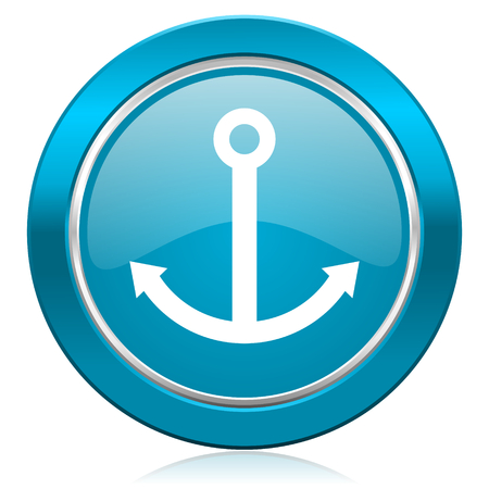 anchor blue icon sail sign photo