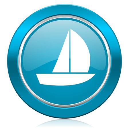 yacht blue icon sail sign photo