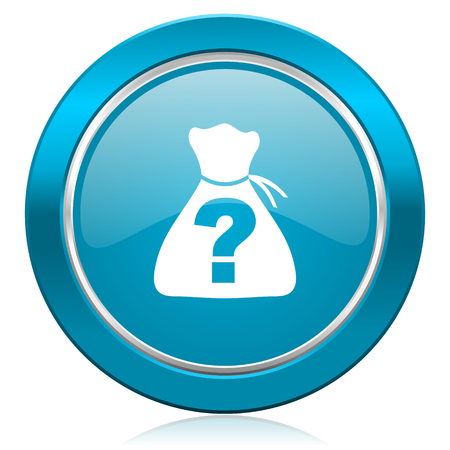 riddle: riddle blue icon Stock Photo