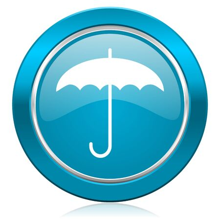 humidity: umbrella blue icon protection sign