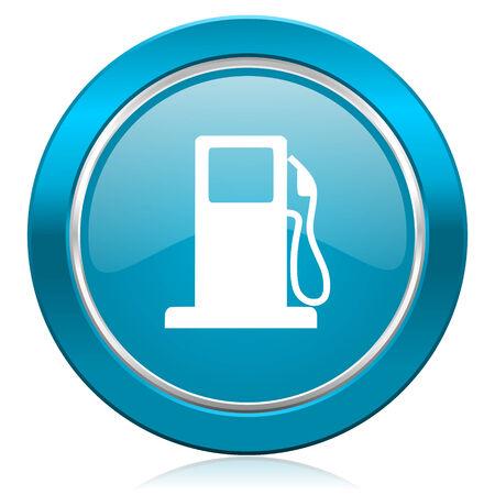 bio diesel: petrol blue icon gas station sign
