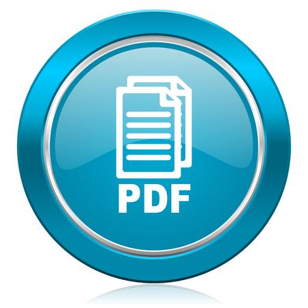 bibliography: pdf blue icon pdf file sign