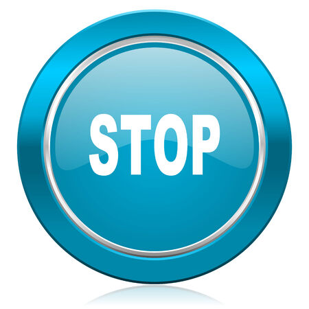 proscribed: stop blue icon Stock Photo