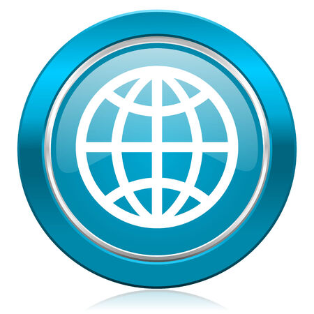 meridians: earth blue icon Stock Photo