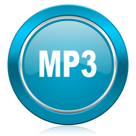 mp3: mp3 blue icon