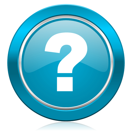 query mark: question mark blue icon ask sign Stock Photo