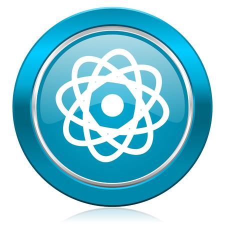 atom blue icon photo