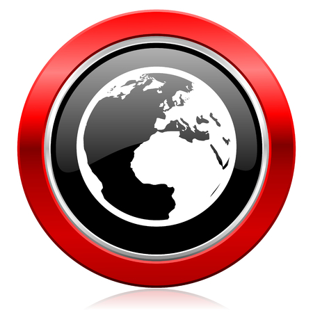 parallels: earth icon world sign