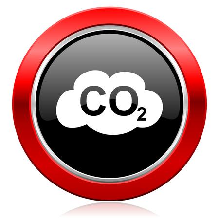 carbon dioxide icon co2 sign photo