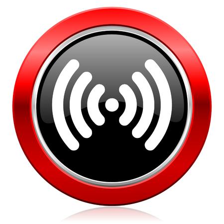 wireless hot spot: icon wireless network sign