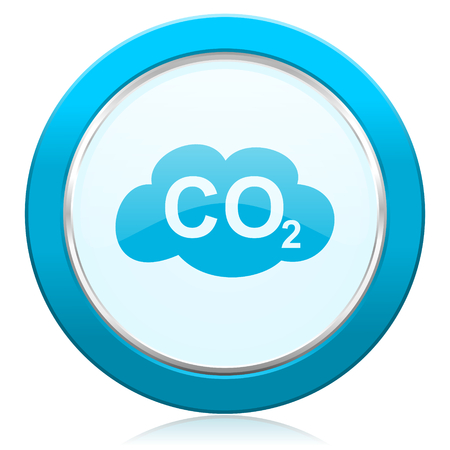 co2: carbon dioxide icon co2 sign