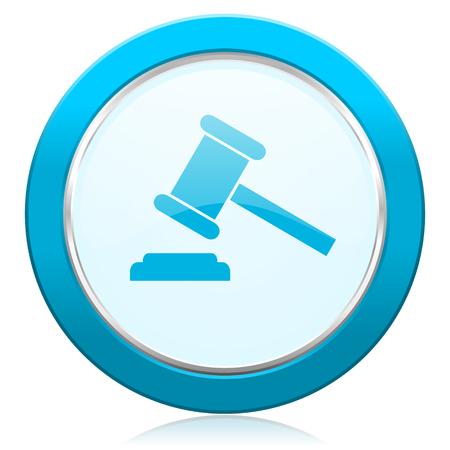 verdict: auction icon court sign verdict symbol Stock Photo