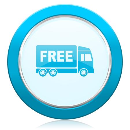 d�livrance: livraison gratuite signe de transport de l'ic�ne Banque d'images