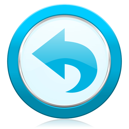 back icon arrow sign photo