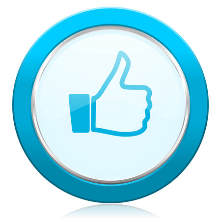 like icon: like icon thumb up sign Stock Photo