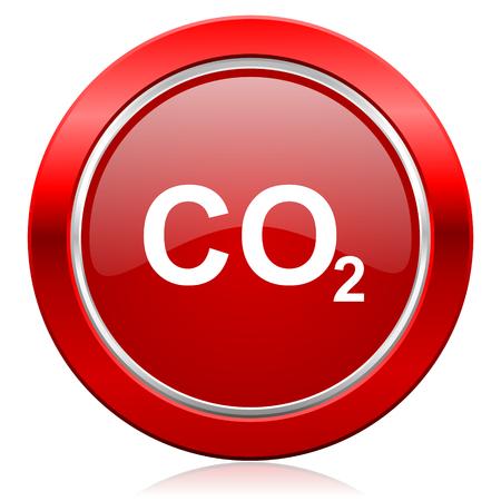 dioxido de carbono: di�xido de carbono signo icono co2 Foto de archivo