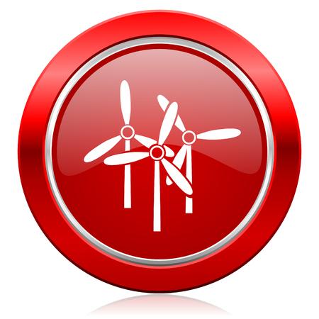windmill icon renewable energy sign photo