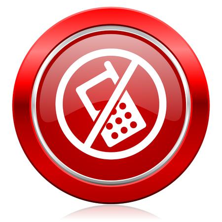 no phone icon no calls sign photo