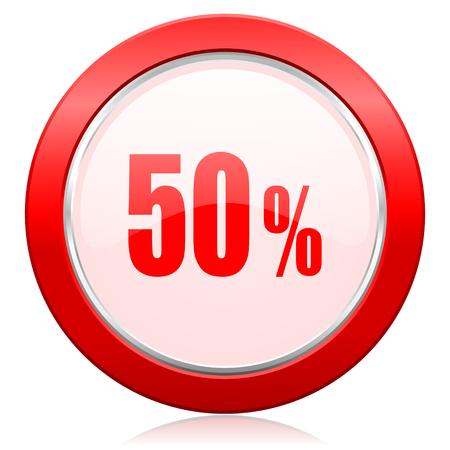 50 percent icon sale sign photo