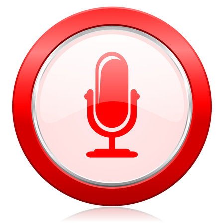 podcast: microphone icon podcast sign